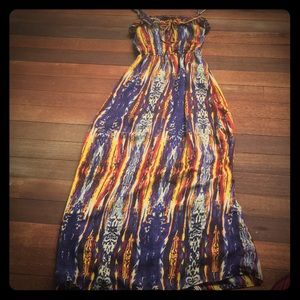 Ali & Kris Multi-print Maxi Dress - Size: S